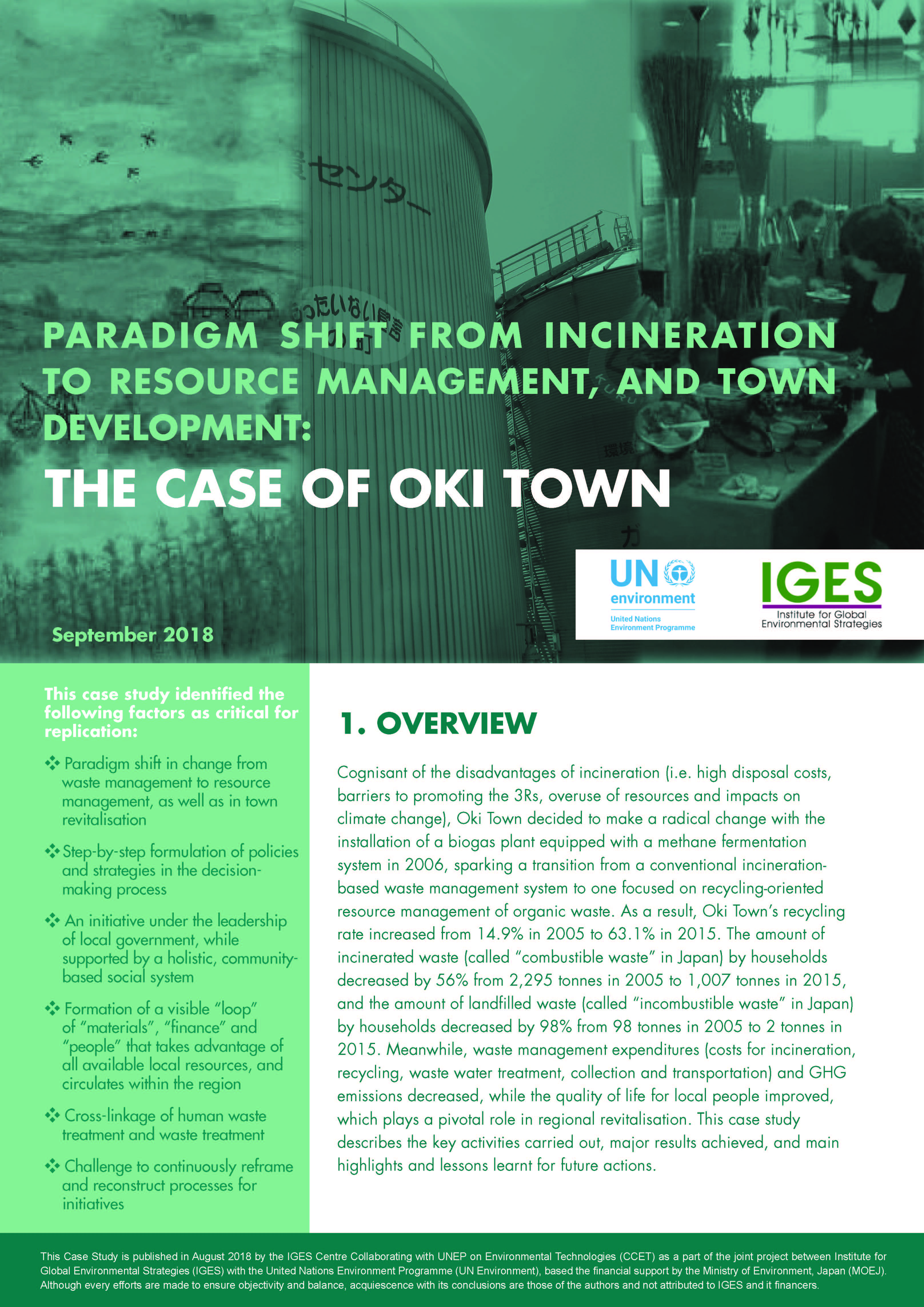 From Incineration to Resource Management_The case of Oki Town